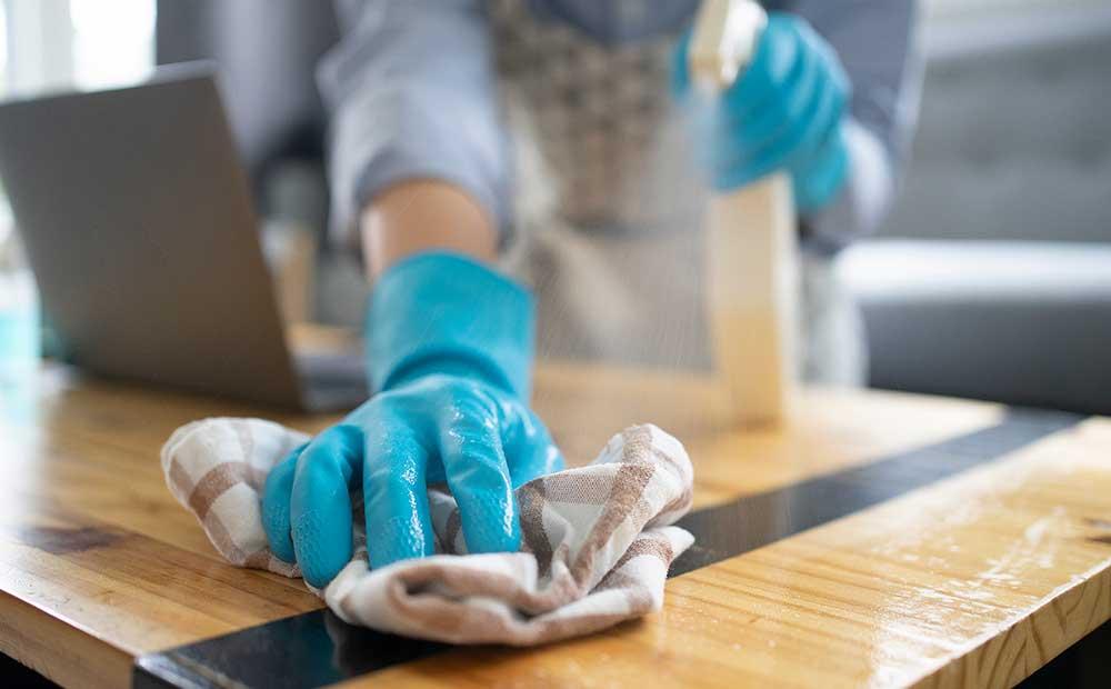 Sanitising clean